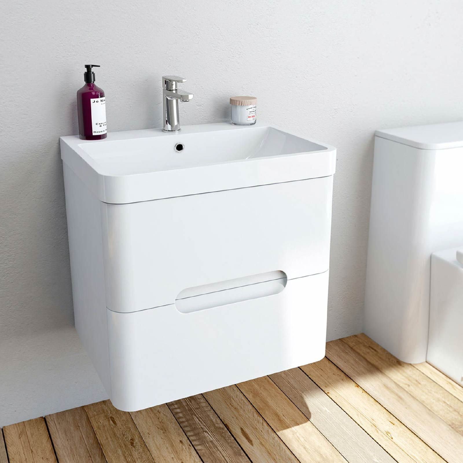 Stylish wall hung vanity units