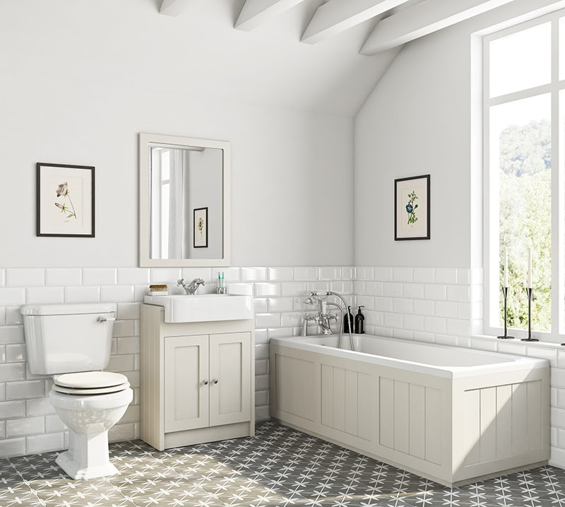 Dulwich stone ivory furniture suite with straight bath