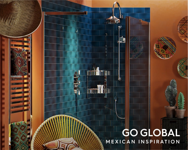 Get the look: Go Global—Mexico shower