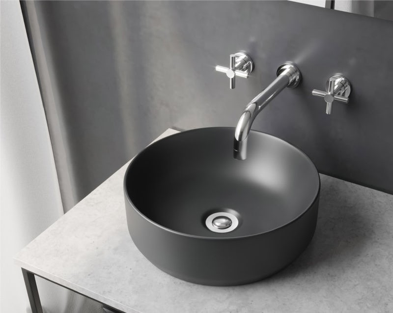 Mode Orion charcoal grey countertop basin 355mm