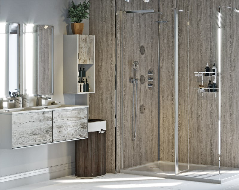 Natural Elements neutral bathroom walls