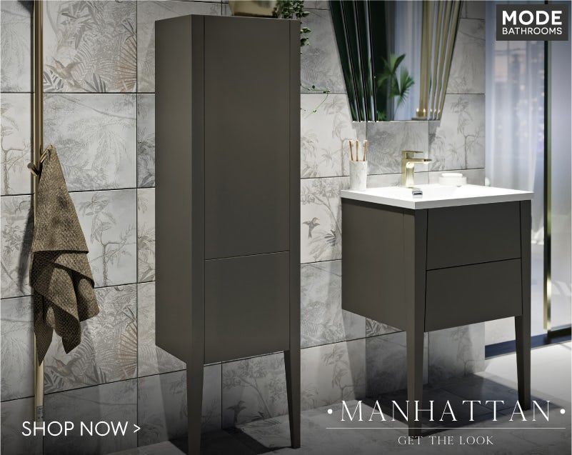 Mode Hale greystone matt bathroom furniture