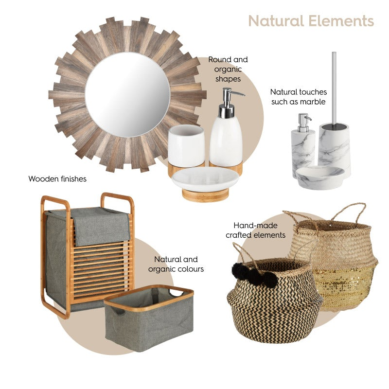 Natural Elements bathroom ideas mood board