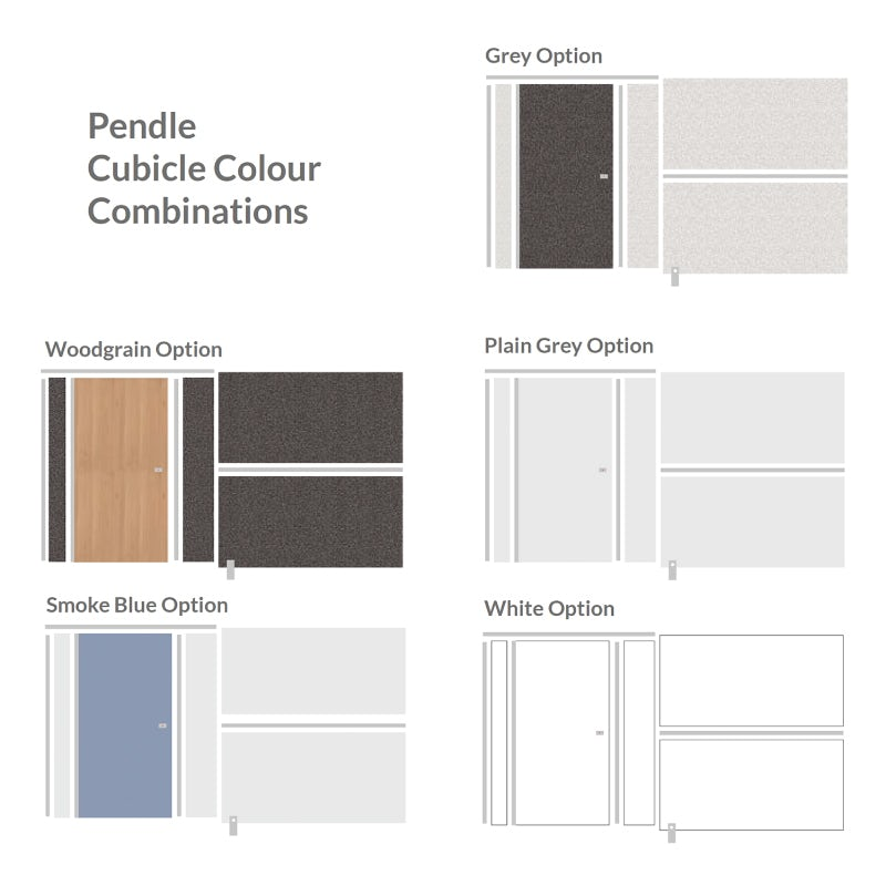 Pendle toilet cubicle colour combinations