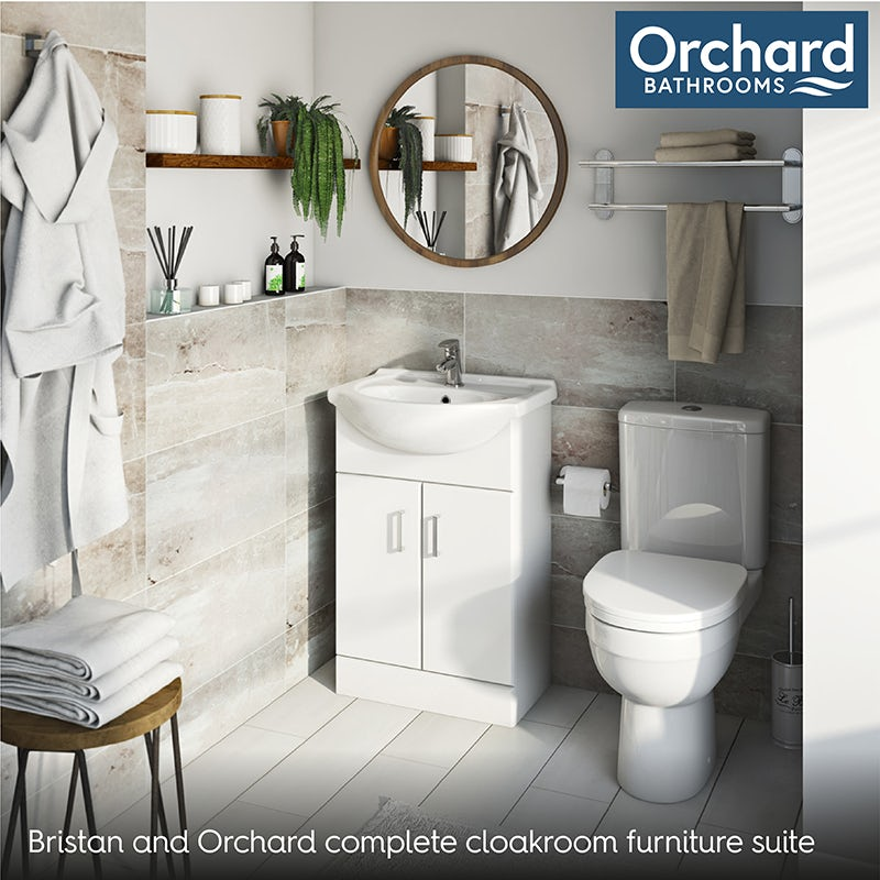 Bristan and Orchard complete cloakroom furniture suite