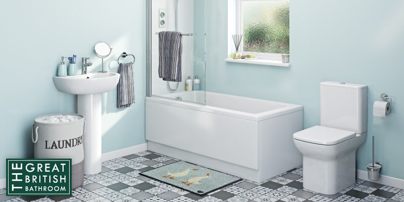 Bathroom refresh box in blue