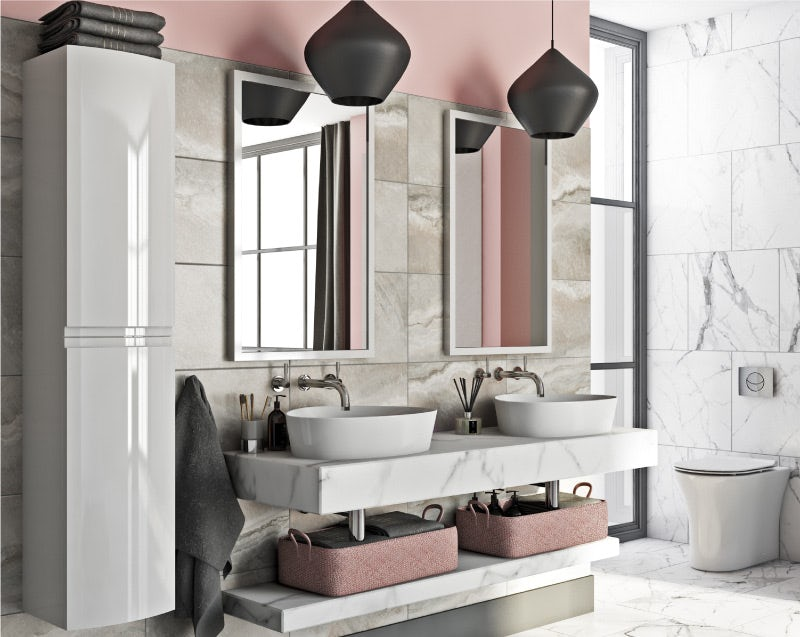 Dusky pink bathroom colour ideas