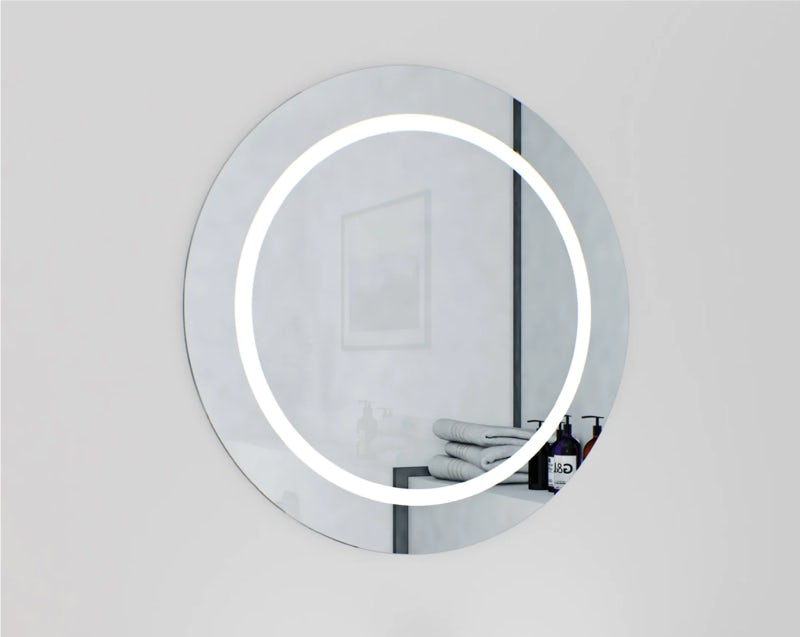 Mode Shine round LED illuminated mirror 600 x 600mm with demister