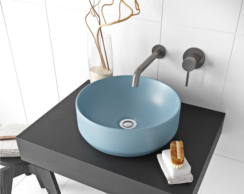 Mode Orion blue countertop basin 355mm