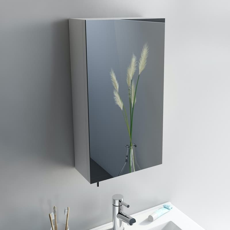 Orchard Reflex white steel mirror cabinet 550 x 300mm