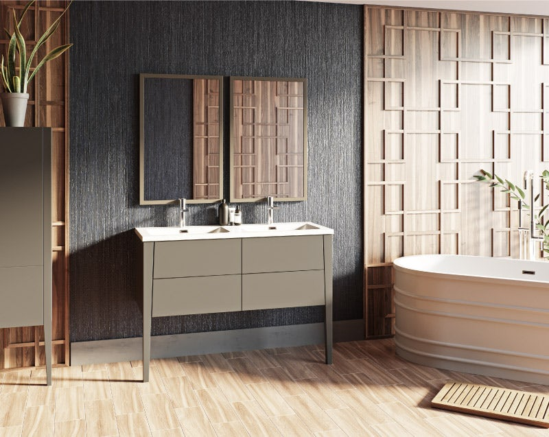Hale greystone matt bathroom furniture range
