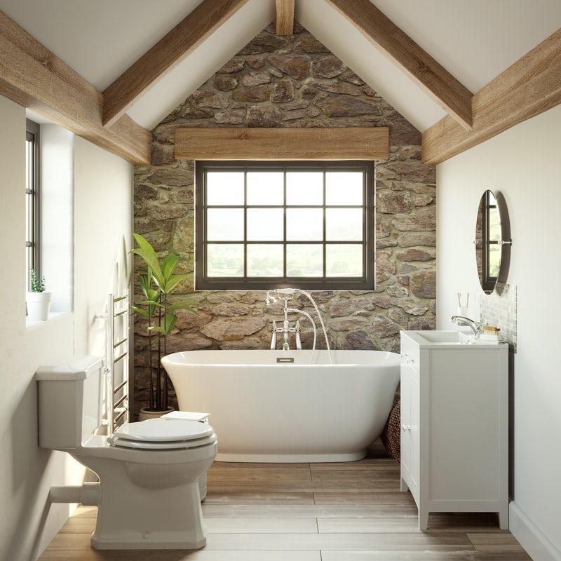 Refined Rustic barn bathroom