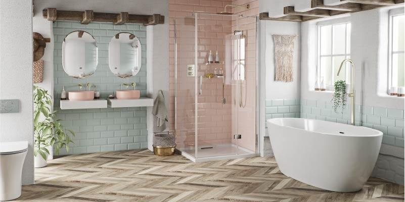 A Touch of Blush bathroom