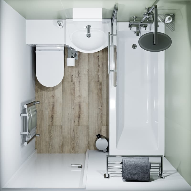 Find out more about bathroom layout guidelines