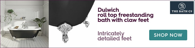The Bath Co. Dulwich black roll top freestanding bath