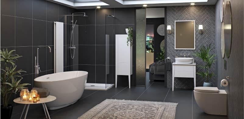 Hale white bathroom furniture