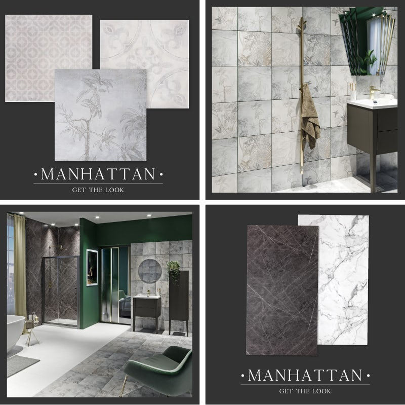 Manhattan bathroom walls and floor