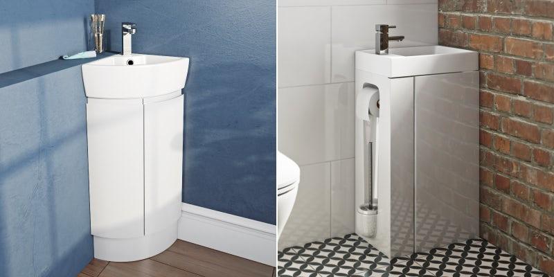 Cloakroom vanity units