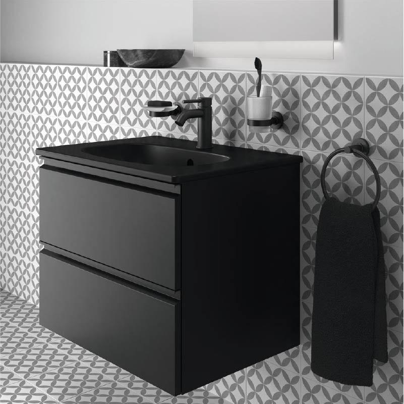 Ideal Standard Silk Black bathroom furniture