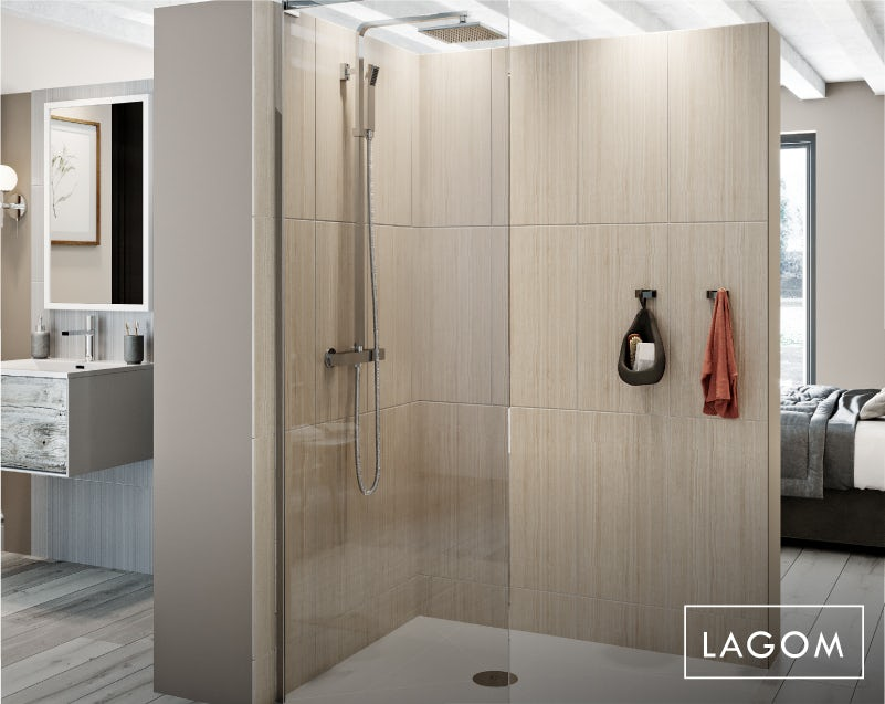 Lagom bathroom—shower
