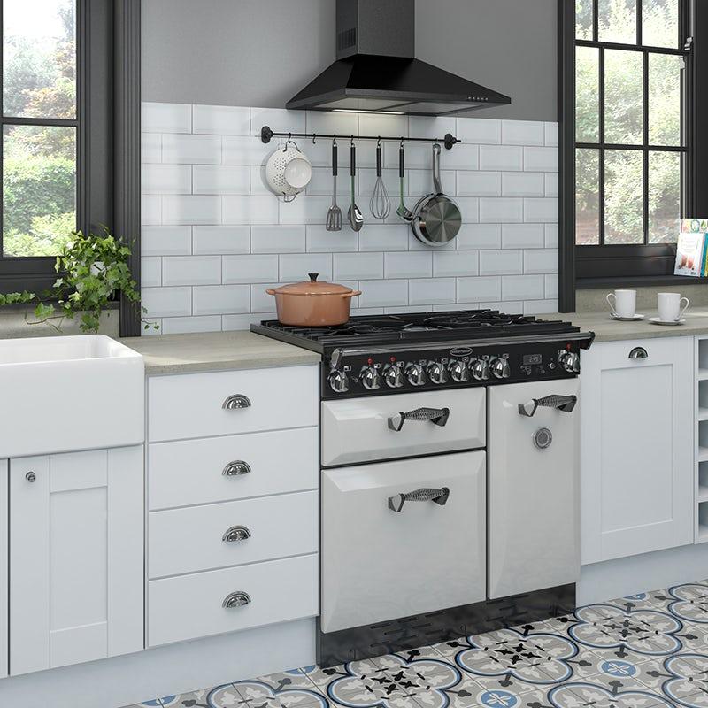 A modern kitchen in a Victorian home