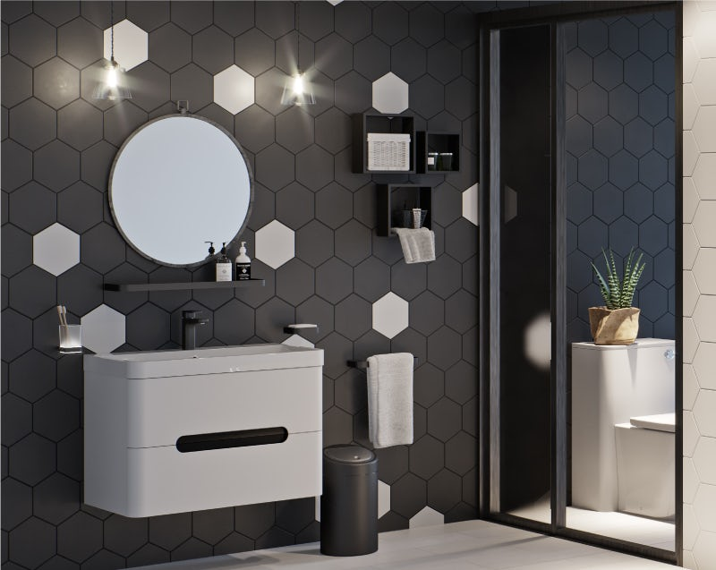 Maximum Monochrome vanity unit