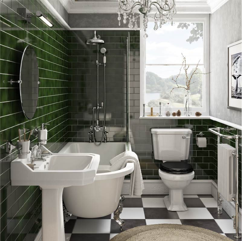 Vintage Chic family bathroom