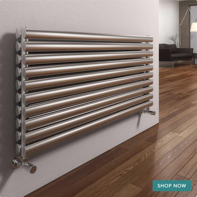 Reina Artena double brushed stainless steel designer radiator