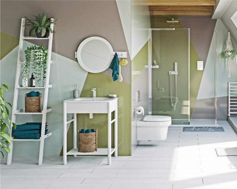 Colourful Creative bathroom