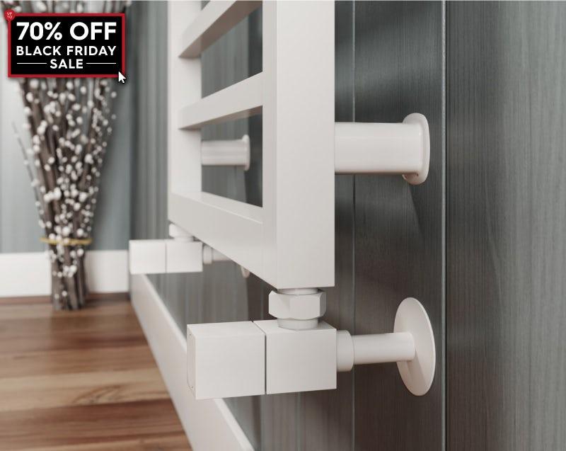 The Heating Co. Burton white heated towel rail