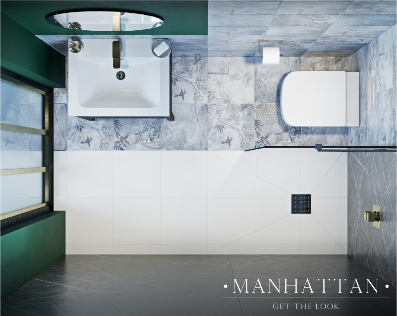 Manhattan small bathroom layout