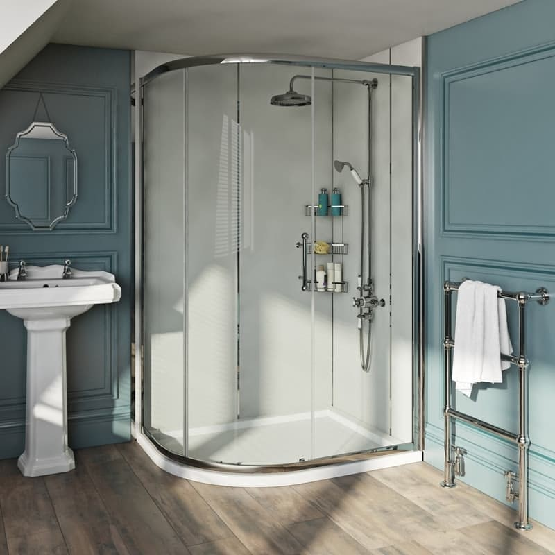 The Bath Co. Winchester 6mm traditional offset quadrant shower enclosure