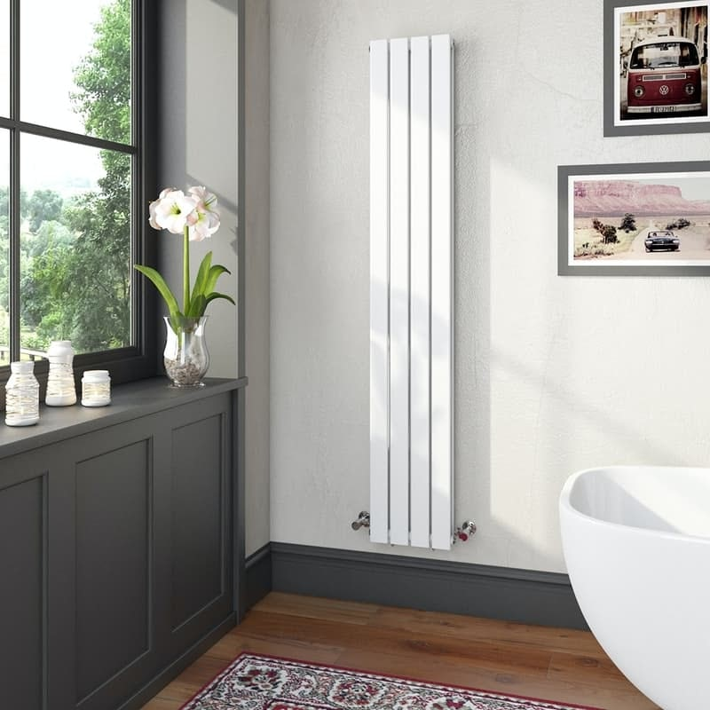 The Heating Co. Bonaire white double vertical flat panel radiator