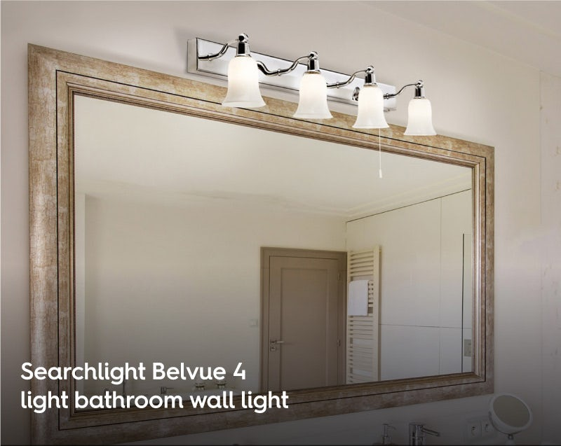 Searchlight Belvue 4 light bathroom wall light