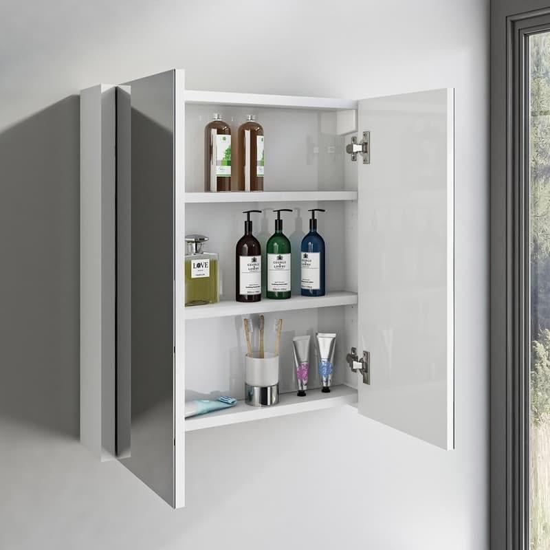 Orchard Derwent white mirror cabinet 650 x 600mm