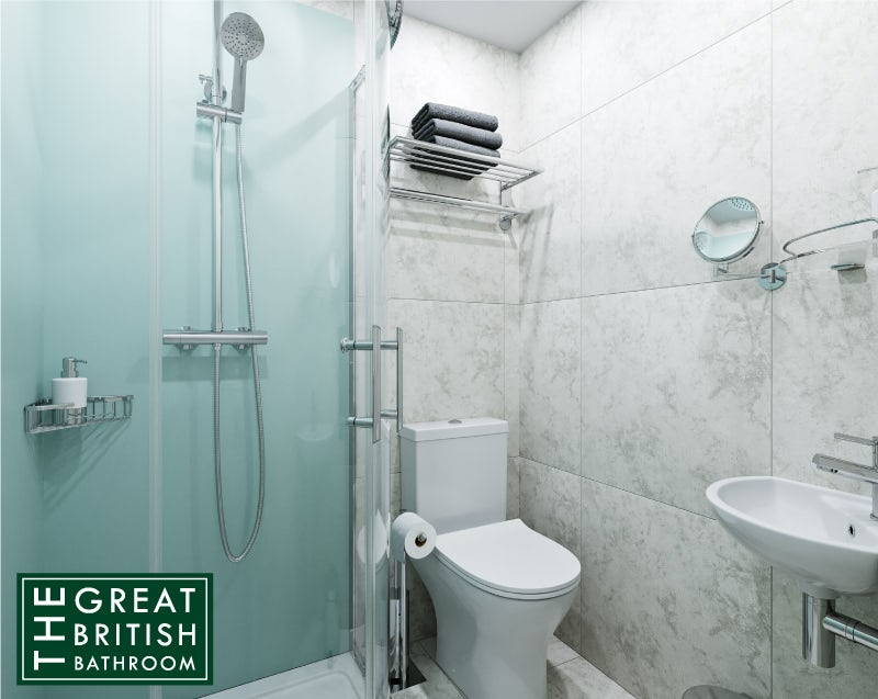Small bathroom or ensuite with shower enclosure