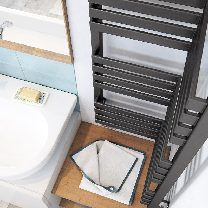 Terma Incorner modern grey designer towel rail