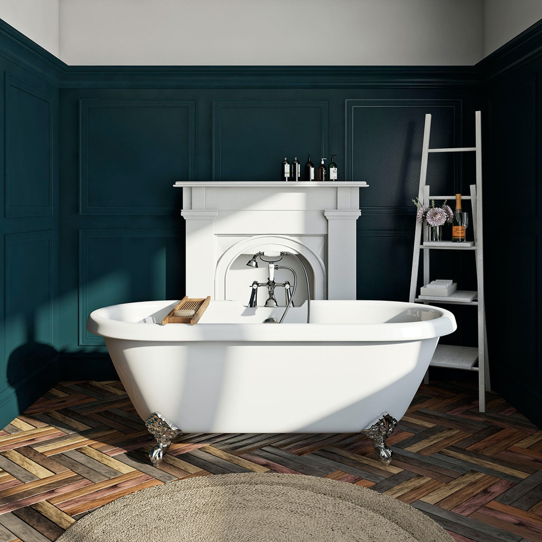 Orchard Dulwich roll top freestanding bath with chrome claw feet