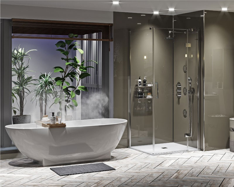 Natural Elements: Designer bathroom