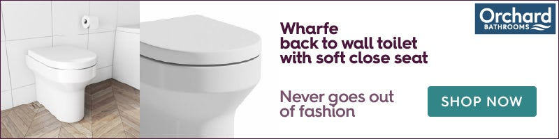 Orchard Wharfe back to wall toilet with soft close toilet seat