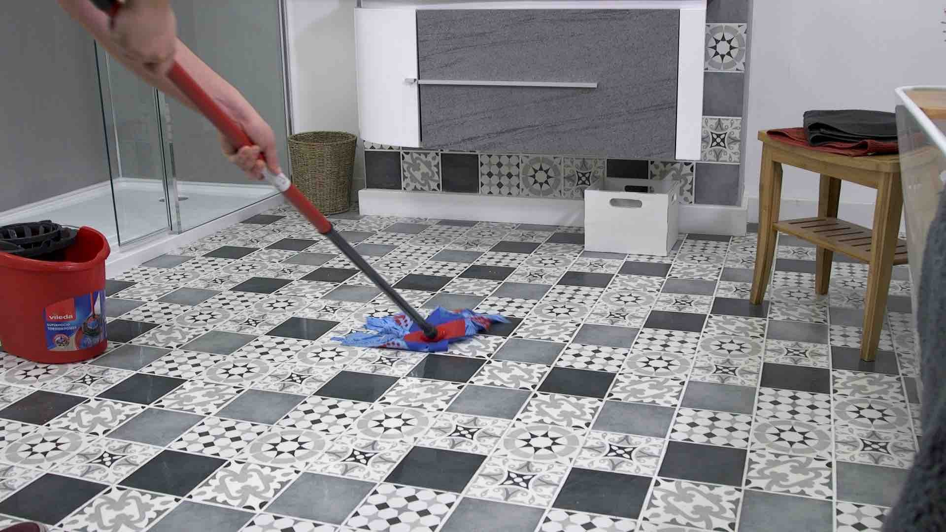 Mopping your floor tiles