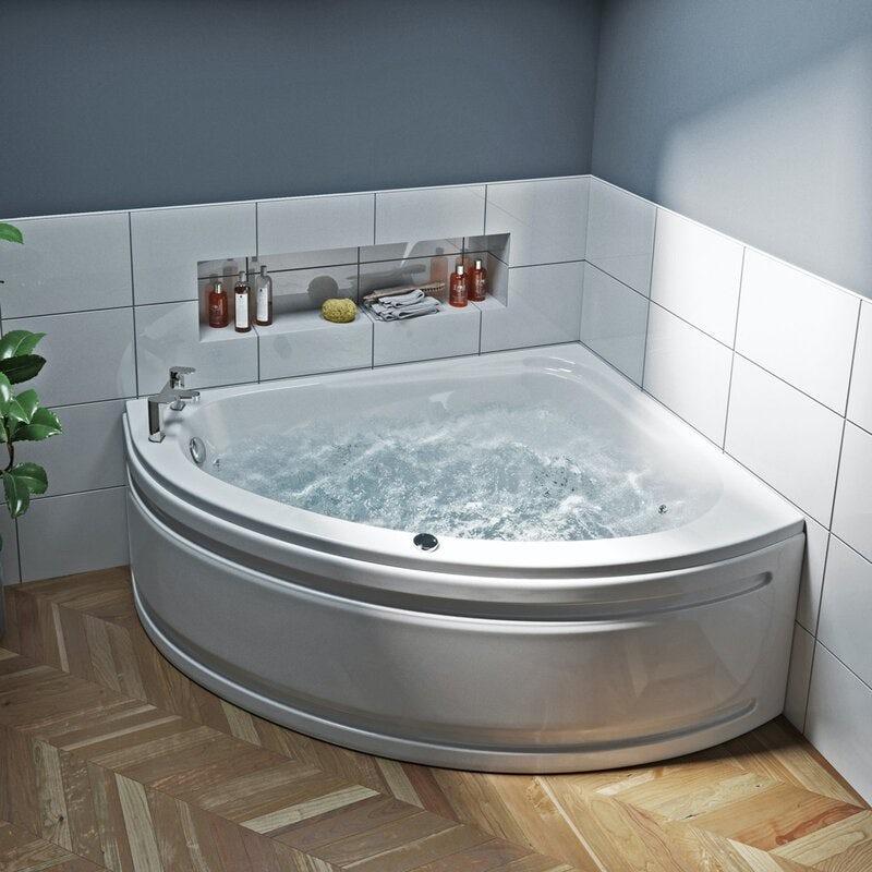 Mode offset corner right handed 12 jet whirlpool bath 1500mm