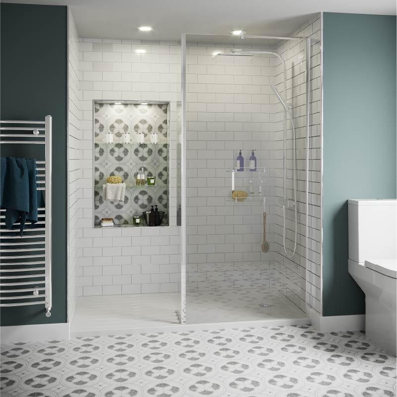 Bathroom trends 2021: Subtle Tile Graphics