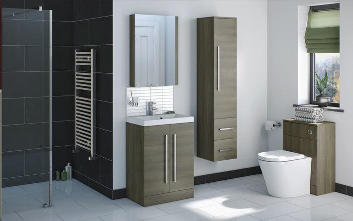 Wye walnut bathroom furniture