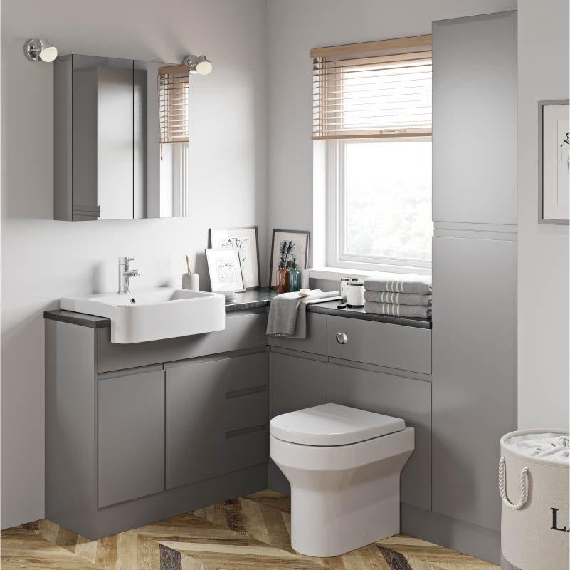 Wharfe slate grey fitted furniture range