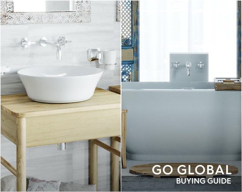 Mode Tate wall mounted bath filler & Mode Tate wall mounted basin mixer tap