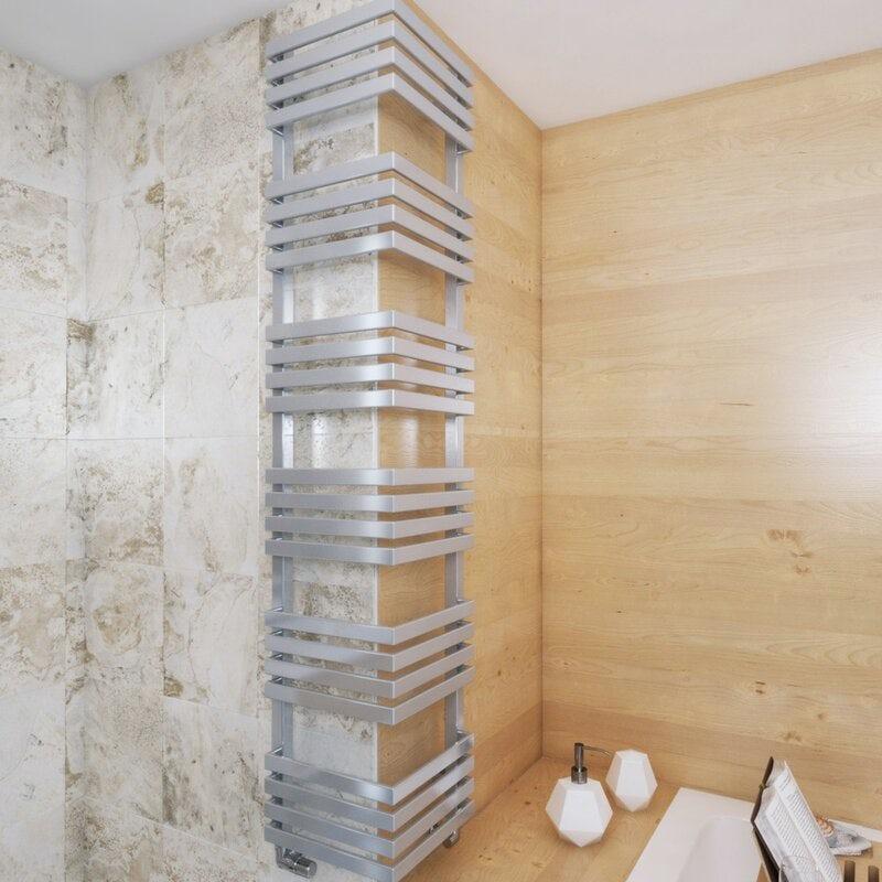 Terma Outcorner chrome effect designer towel rail