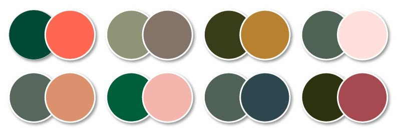 Green colour combinations for bathrooms