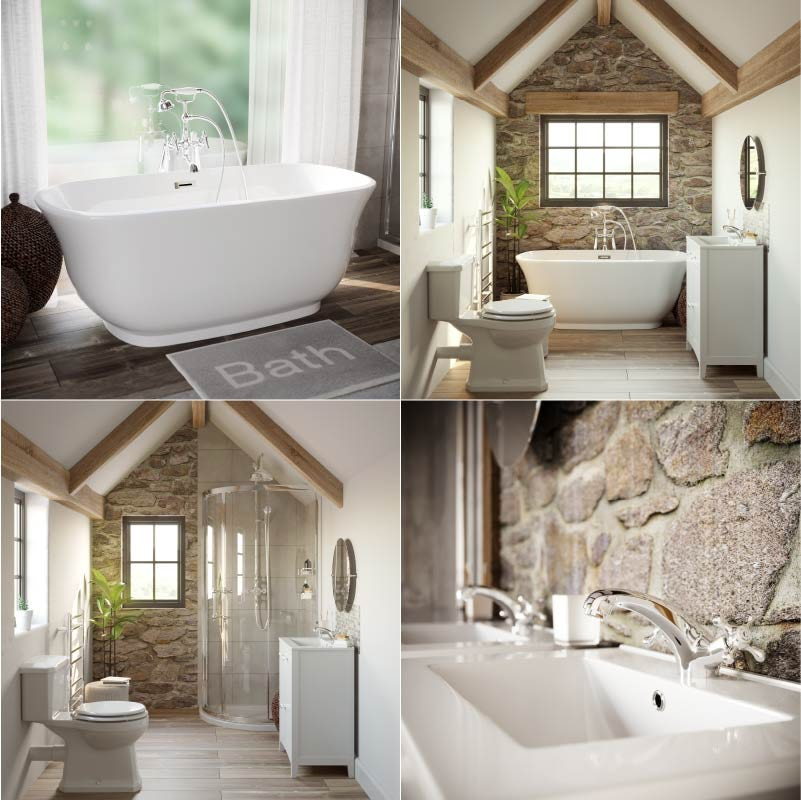 Refined Rustic bathroom materials