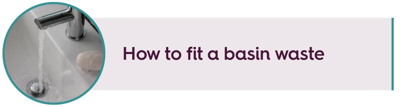 How to fit a basin waste